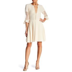 NWT Lucy Paris Cassandra Lace Dress Beige S #2793
